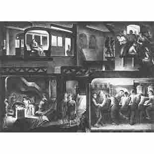 "735: Benton Murdoch Spruance, ""The People Work - Night,"