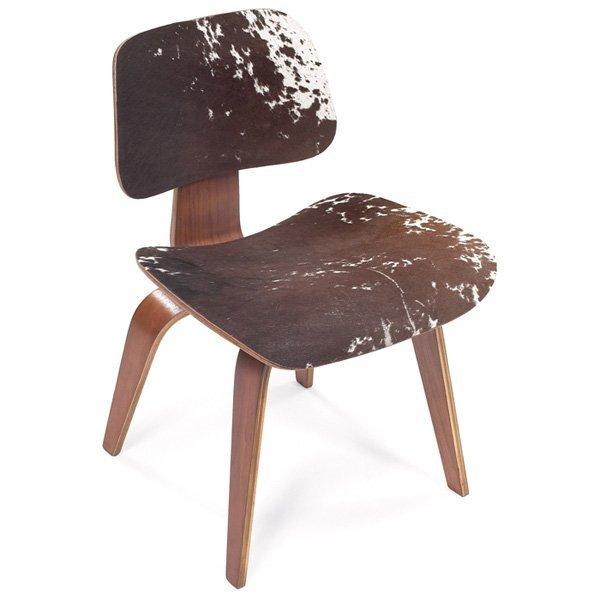854: Eames DCW, Herman Miller, walnut, cowhide