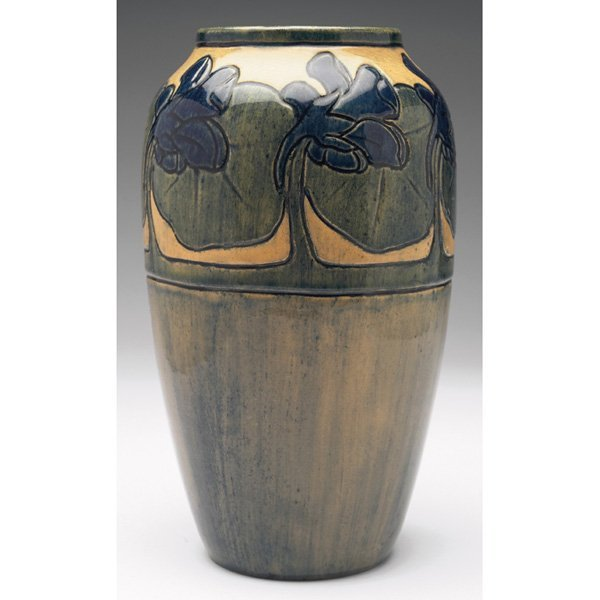 7: Early Newcomb College vase, large tapered shape Mari