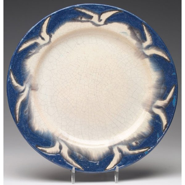 16: Unusul Pewabic plate, geese in flight