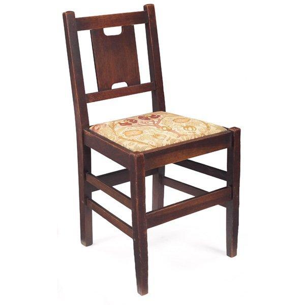 "90: Gustav Stickley desk chair, #398, ""H"" back form"