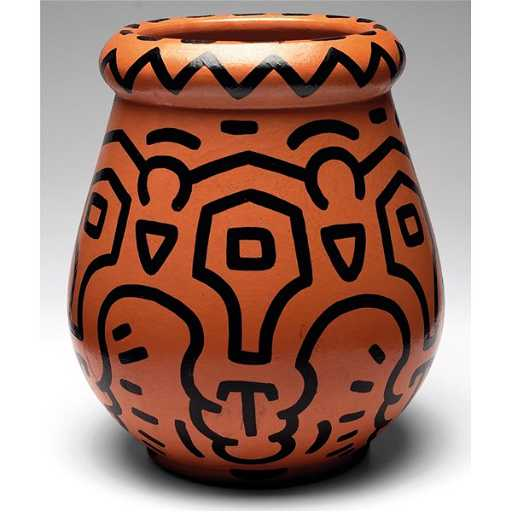 811 Keith Haring Vase Large And Broad Form