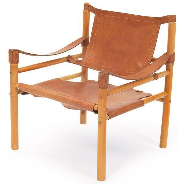 "913: Arne Norell ""Safari"" chair, Sweden"