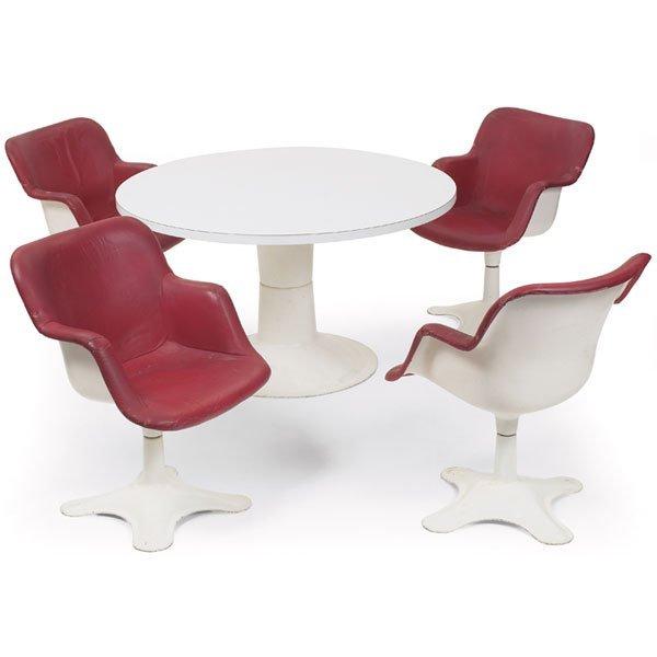 "1108: Yrjo Kukkapuro ""Karuselli"" dining table and chair"