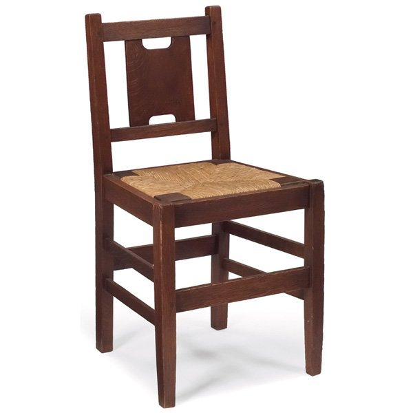 2: Gustav Stickley desk chair, #398,