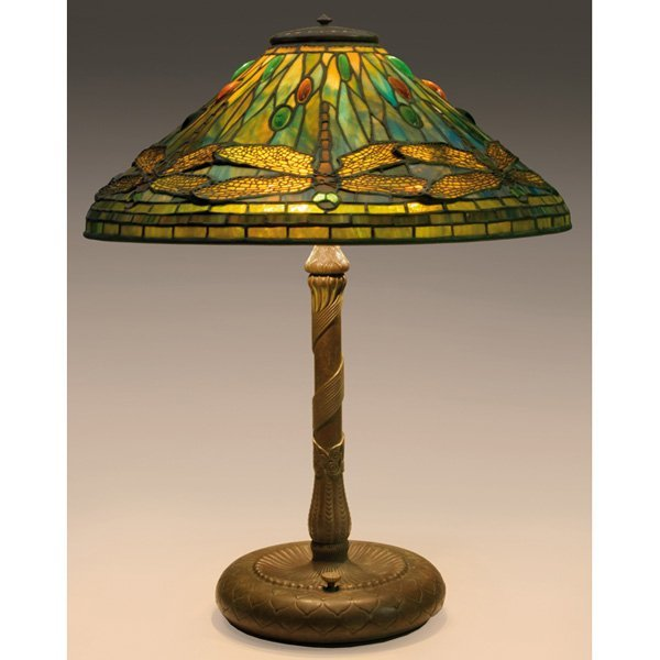 588: Tiffany Studios lamp, dragonflies