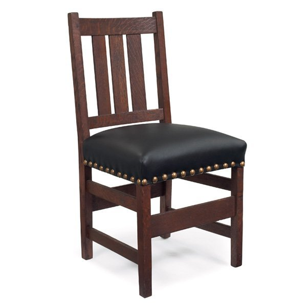 3: L and JG Stickley side chair, #343,