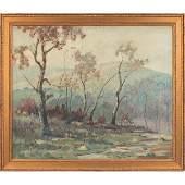 "485: Herbert J. Day ""Autumn Landscape,"" oil on canvas"