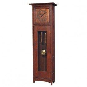 1: L and JG Stickley tall case clock