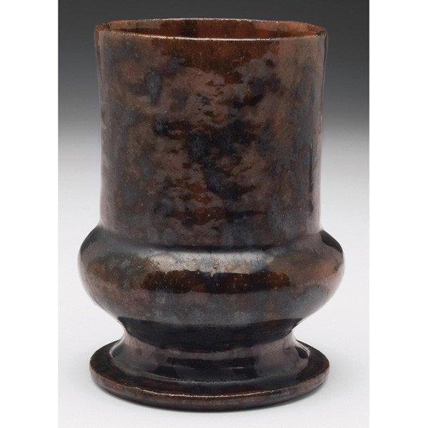 6: George Ohr vase, footed shape