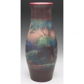 8: Rookwood vase, vellum, painted by Fred Rothenbusch i