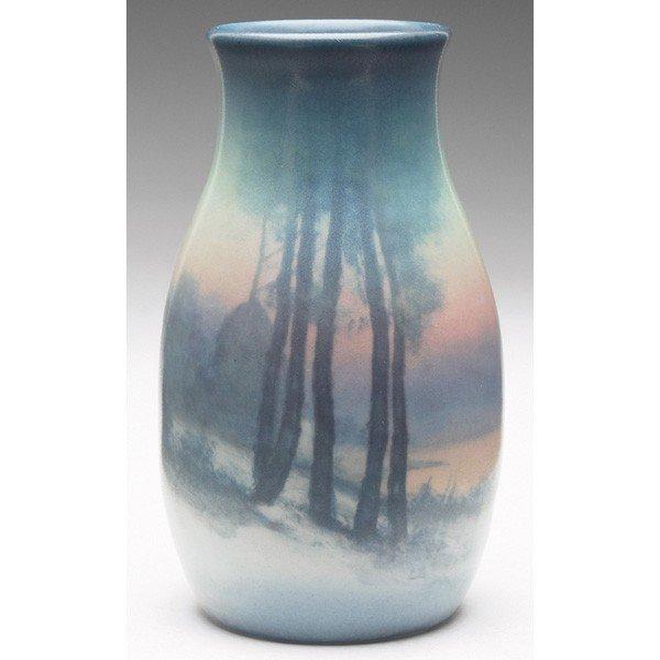 9: Rookwood vase, bulbous shape in a Vellum glaze, nice