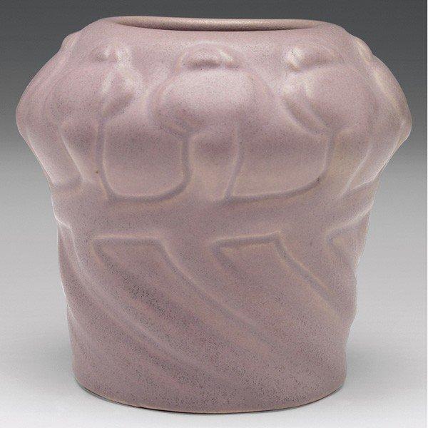 14: Van Briggle vase, 1902, shouldered shape poppy desi