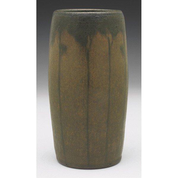 16: Marblehead vase, attribution, tapered shape painted