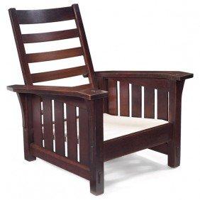 19: Gustav Stickley Morris chair, #369