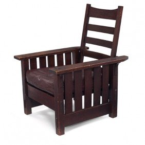 22: Gustav Stickley Morris chair, #2342