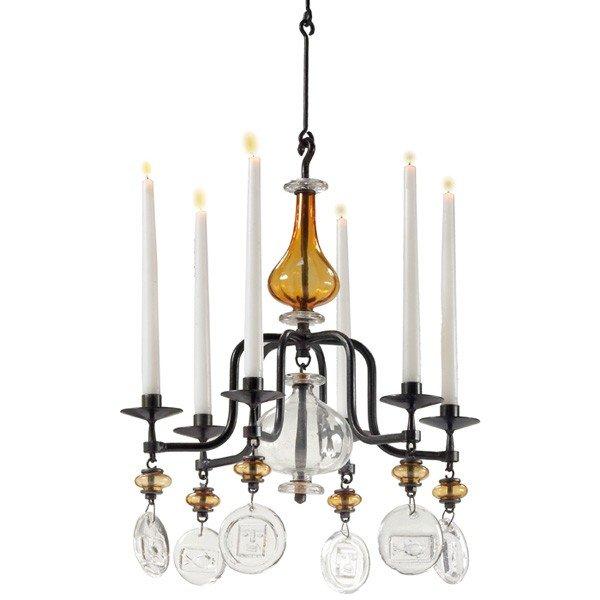 1010: Erik Hoglund chandelier, by Boda Nova Glassworks/