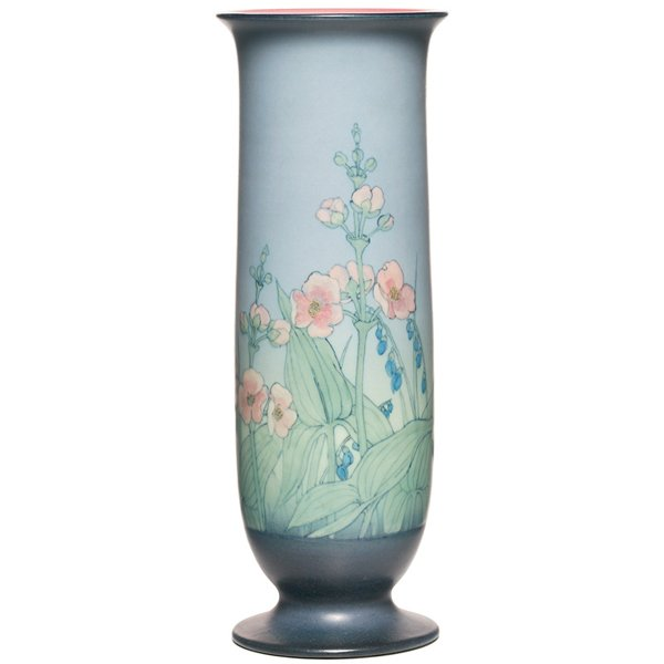 2: Rookwood vase, vellum, Lenore Asbury