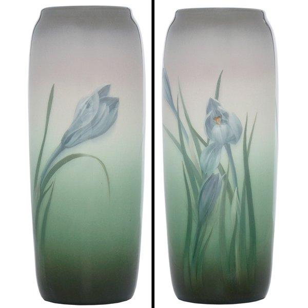 8: Rookwood vase, Iris glaze, Carl Schmidt
