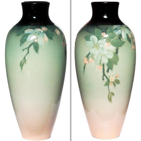 10: Rookwood vase, Iris glaze, Lenore Asbury