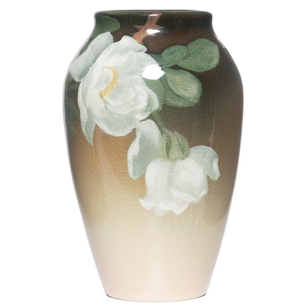 23: Rookwood vase, Iris glaze  Clara Lindeman