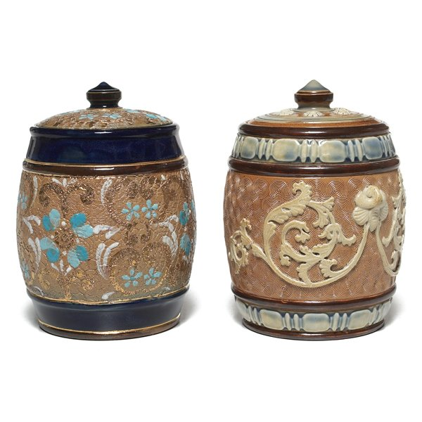 691: Royal Doulton covered vessels, two