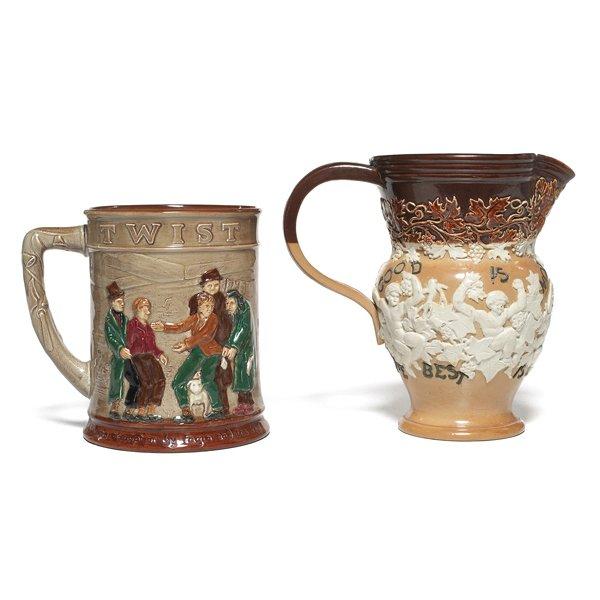 693: Royal Doulton mug, w/  Royal Doulton pitcher