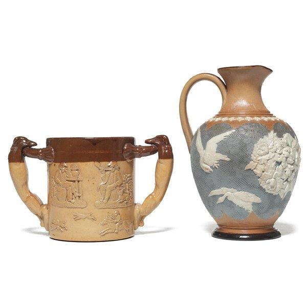 695: Royal Doulton mug, w/ Royal Doulton ewer