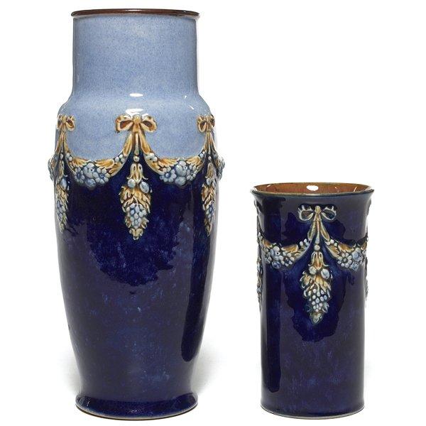 697: Royal Doulton vase, w/ Royal Doulton vase