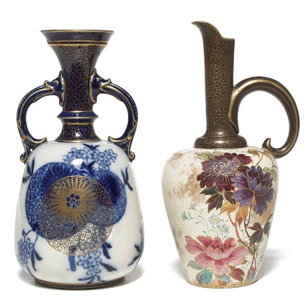 698: Royal Doulton vase, w/ Royal Doulton ewer