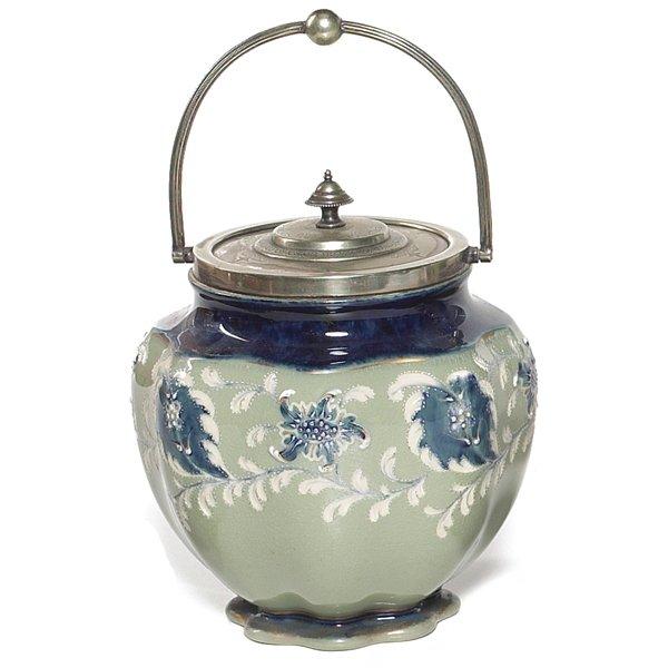 701: Moorcroft biscuit jar, Macintyre