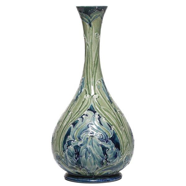702: Moorcroft vase, Iris decoration