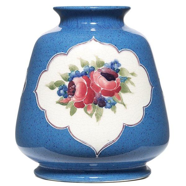 704: Moorcroft vase, fruit and flower designs