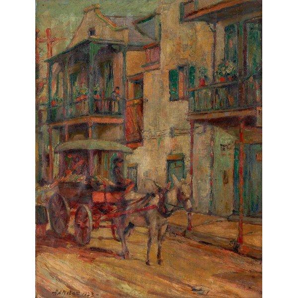 "1072: Harry A. Nolan, ""New Orleans"",  oil/board"