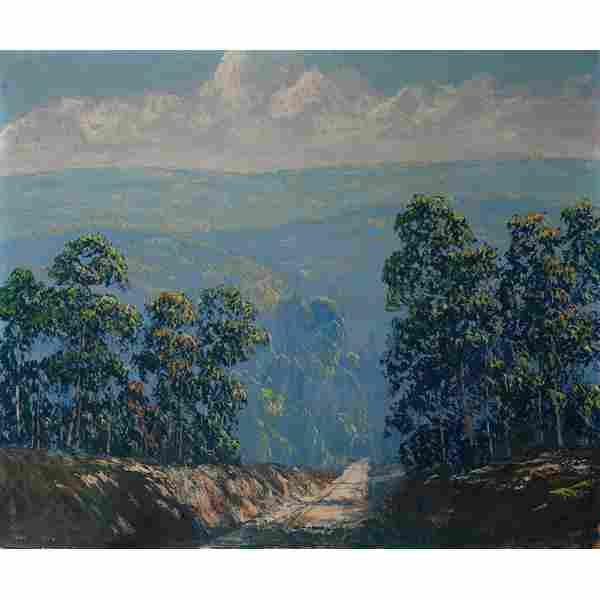 "John Wesley Hardrick, ""Indiana Landscape"", oil"