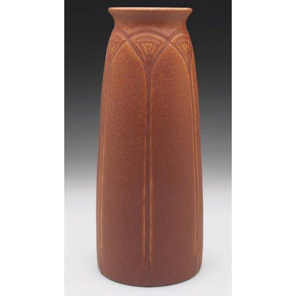 21: Rookwood vase, large tapered shape with an incised