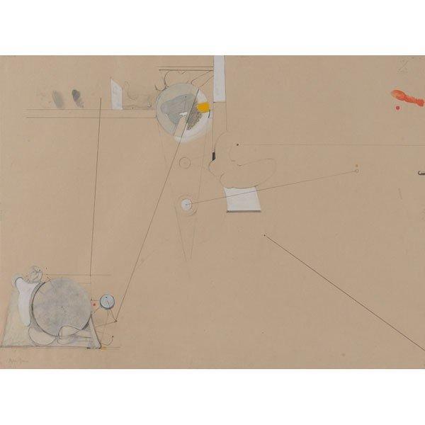 "716: Stephen Greene (American, 1917-1999) ""Abstract Com"
