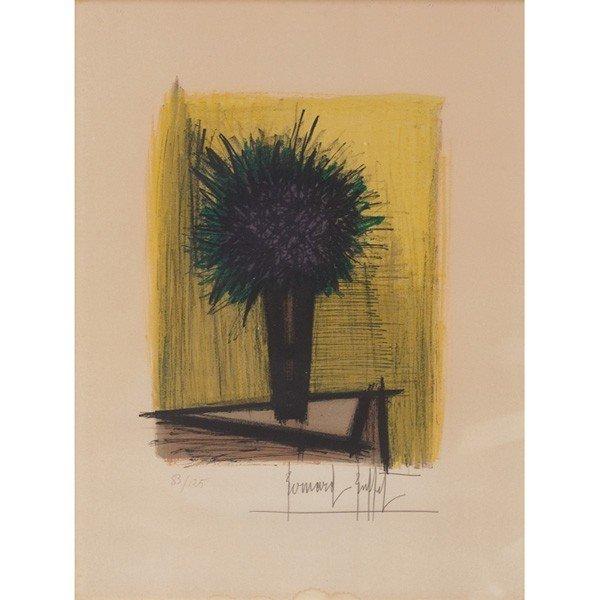 """734: Bernard Buffet (French, 1928-1999) """"Vase of Flower"""