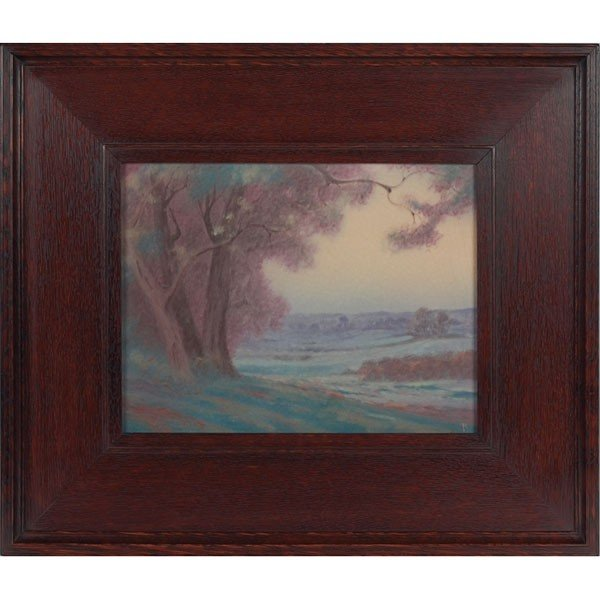 2: Rookwood plaque, Vellum glaze, executed by Fred Roth