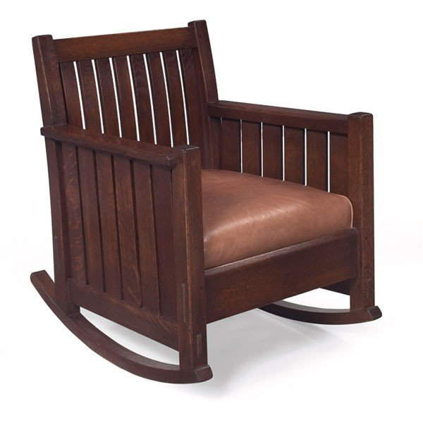 14: L and JG Stickley rocker, #409