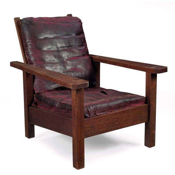 15: Stickley Brothers Morris chair, #354