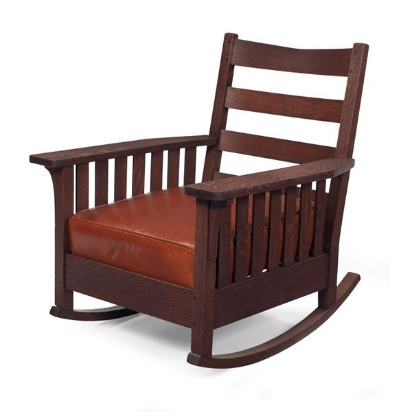 16: L and JG Stickley rocker, #461