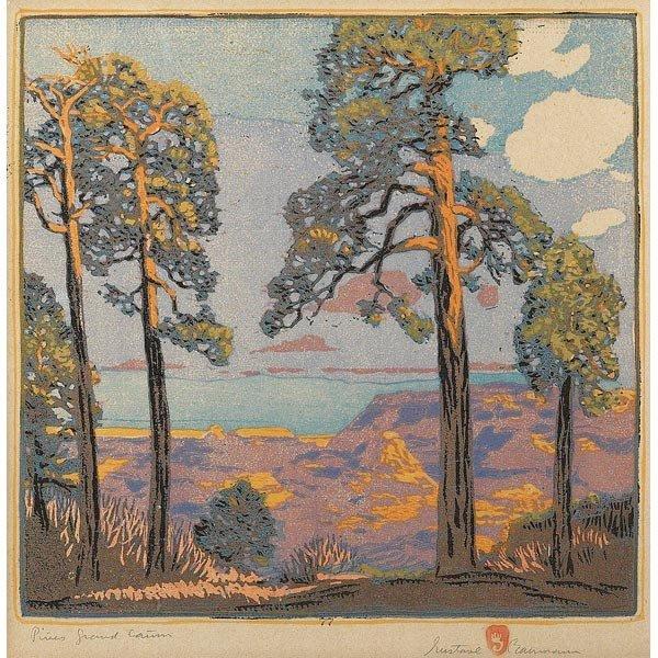 001: Gustave Baumann woodblock
