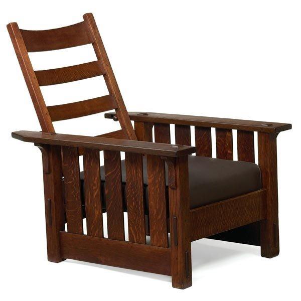 009: Gustav Stickley Morris chair, #332