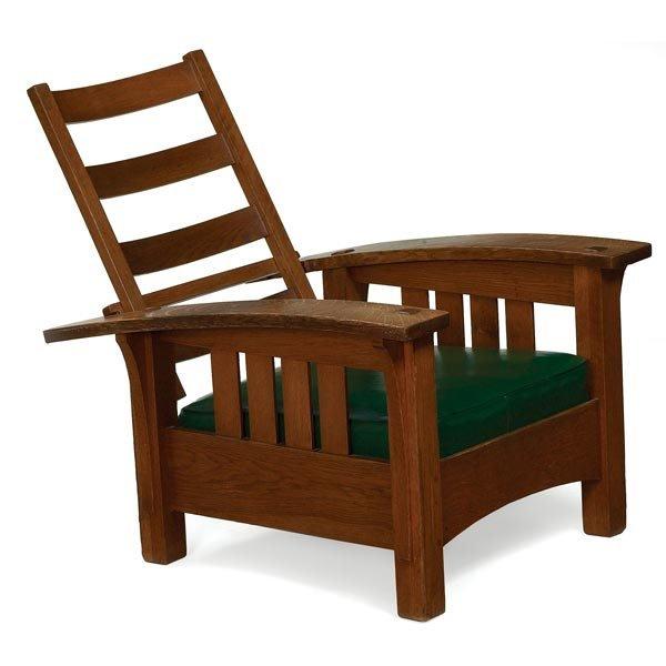 010: L & JG Stickley Morris chair, #406
