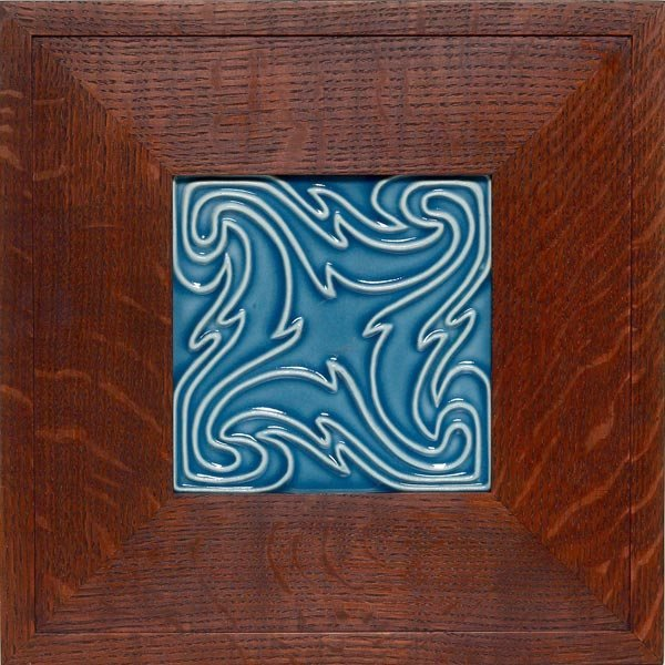 011: Rookwood tile, swirling design