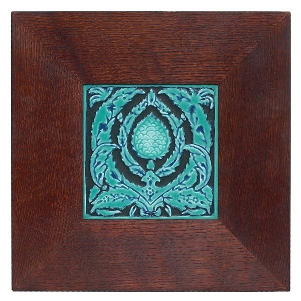 013: Rookwood tile, stylized organic design