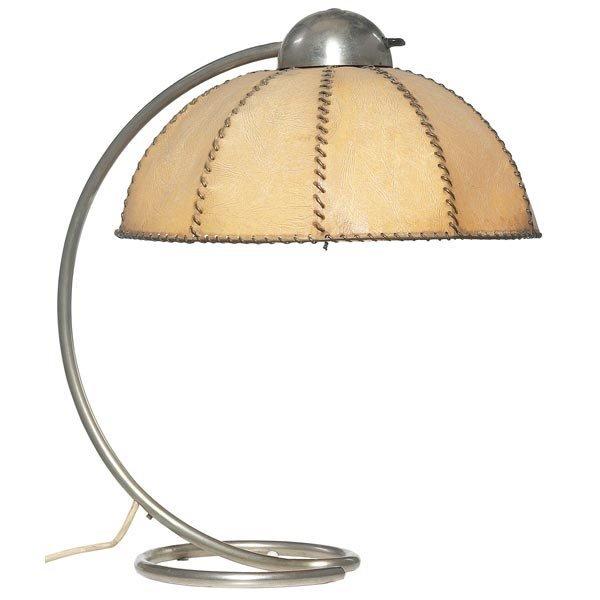 017: Dutch lamp, tubular chrome base