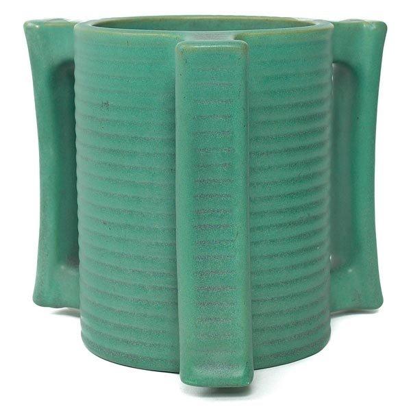 024: Teco vase, green matt glaze