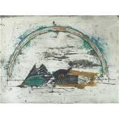 842: Johnny Friedlaender, Arch, colored intaglio